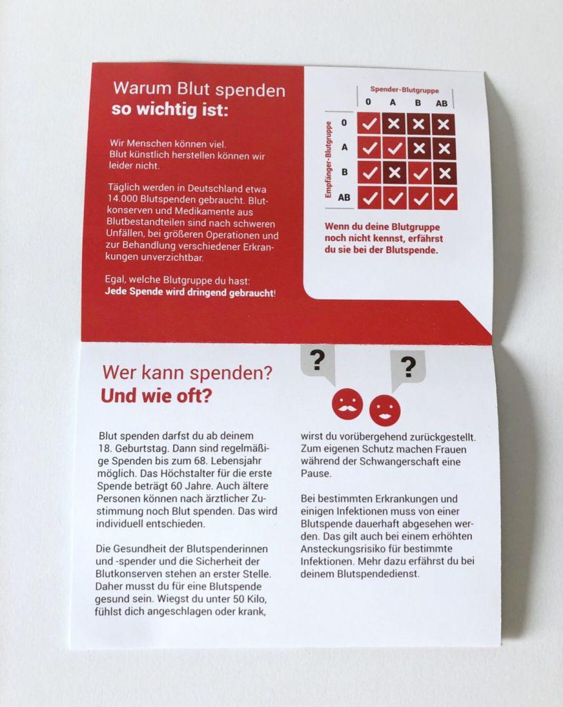 Faltblatt BZgA