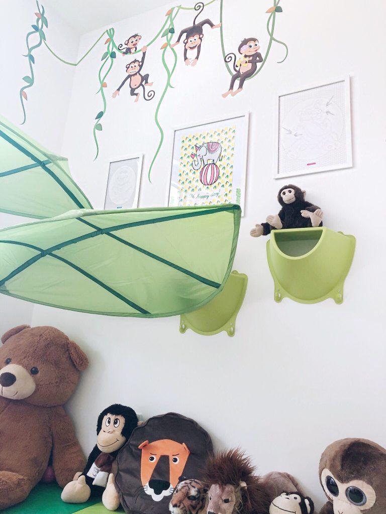 Dschungel/Zoo Ecke im Kinderzimmer